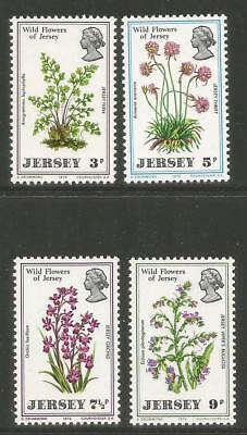 Jersey 1972 Local Wildflowers--Attractive Flower Topical (61-64) MNH