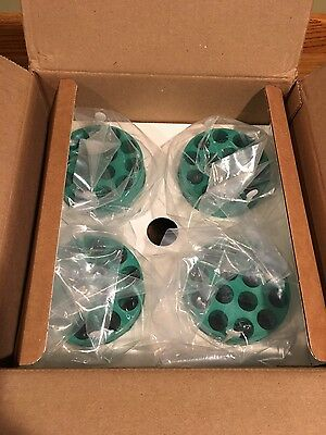 NEW BECKMAN COULTER MULTIDISC ADAPTERS, GREEN, 14 x 15ML  (PKG-4), MODEL 359151