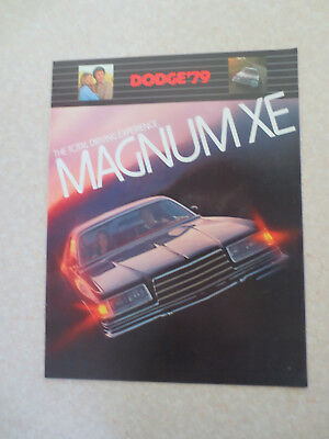 1979 Dodge Magnum XE automobile advertising booklet