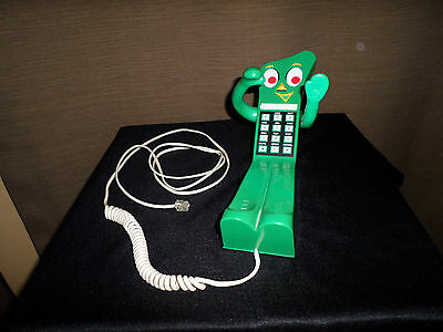 Vintage Retro 1985 GUMBY TOY CHARACTER Touchtone Telephone ~ FREE SHIP