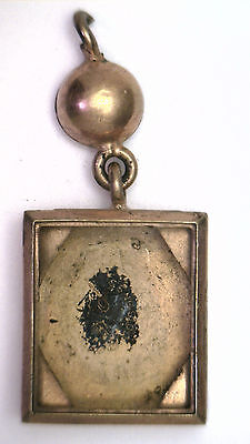Antique Vintage Unusual Victorian 12k Gold GF on SS Watch Pendant or Fob  #X392