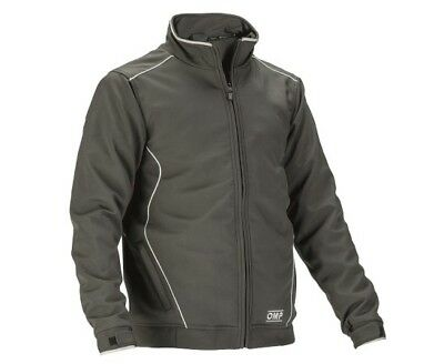 Softshell OMP Racing Spirit manches longues noire pour homme - Sportswear