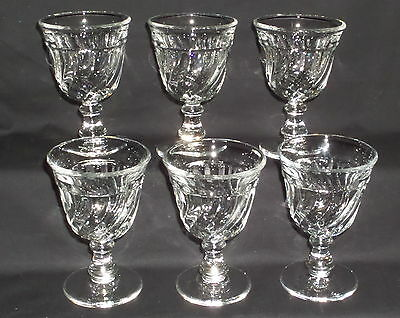 "6 Fostoria COLONY CRYSTAL *4"" COCKTAIL GOBLETS*"