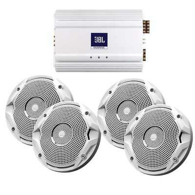 "JBL MS6510 & MA6004 Package 2 X 6.5"" Speakers & Amp #MS6510-X2/MA6004"