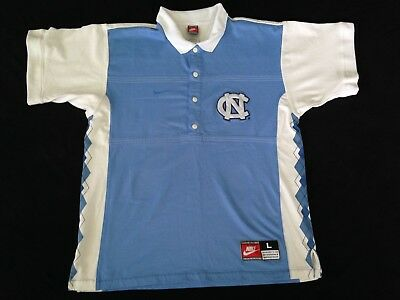 North Carolina Tar Heels NCAA Nike Warm Up Large Pull Over 1990's