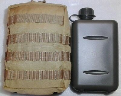 Combo!! 2Lt South African Canteen + Khaki Molle 900D Double Pu Coated Pouch -Tas
