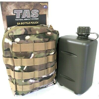 Combo!!! 2Lt South African Canteen + Multicam 900D Double Pu Coated Pouch - Tas