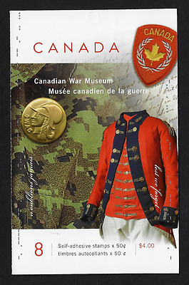 Canada Stamps — Booklet Pane of 8 — Canadian War museum #2108a (BK311) — MNH