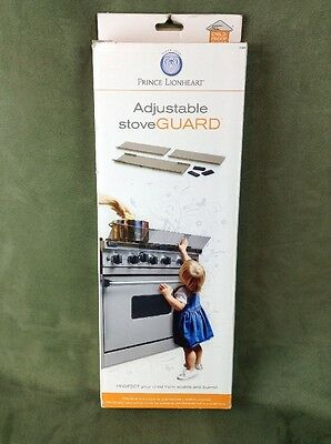 Prince Lionheart Stove Guard Adjustable Safety Shield Scalds Burns, Baby Proof