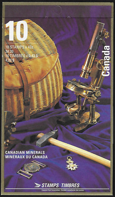 Canada Stamps - Booklet pane of 10 - Canadian Minerals #1440b (BK147) - MNH