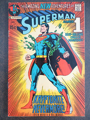 Superman 233 Iconic Kryptonite Breaking Chains Cover Beauty Justice League Movie
