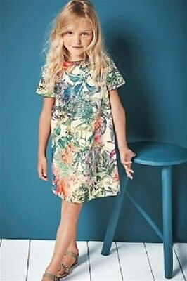 BNWT NEXT Girls Floral Print Prom Shift Dress Party Wear 8-9 Years RRP £22