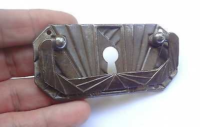 Antique Iron Keyhole Cover Drawer Pull Handle # Free Shipping