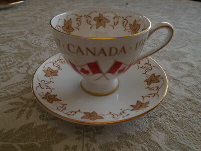 Royal Chelsea Canada Centennial Year Teacup And Saucer