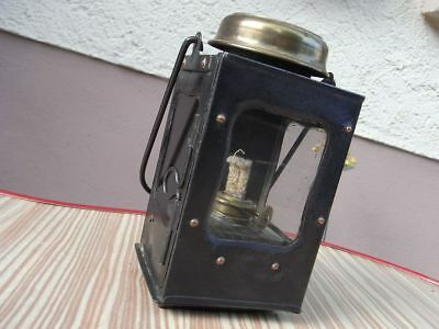 Fledermaus Jugendstil Messing Sturm - Laterne Handlampe Bat lamp Petroleumlampe