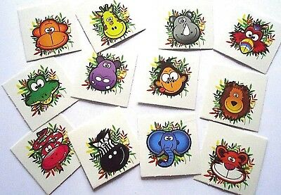 72 x JUNGLE ZOO ANIMAL Temporary Tattoos Kids Girls Party Bag Filler Toy