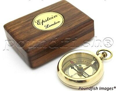 Brass Compass - Epstein London – Pocket Compass with Hard Wood Box