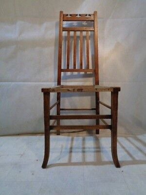 ANTIQUE E A TAYLOR OAK CHAIR for WYLIE LOCHHEAD GLASGOW SCHOOL ARTS & CRAFTS