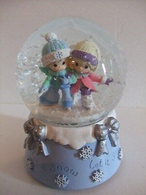 """Musical Snow Water Globe """"Precious Moments"""" with 3-D Base in Box"""