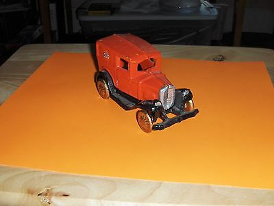Heavy Cast Iron Panel Truck Toy Gulf Oil, Repro