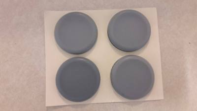 4 x TEFLON ROUND FLOOR PROTECTORS 50mm EASY GLIDE+SELF ADHESIVE LEG/FEET COVERS