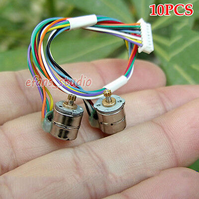 10PCS Mini 8mm 2-Phase 4-Wire Stepper Motor Micro Stepping Motor w/ Copper Gear