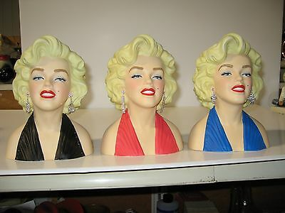 """7 Inch Licensed Marilyn Monroe Head Vase Your choice of Color """"CLOSE OUT"""""""
