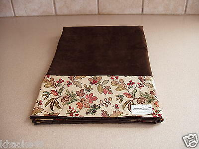 "Longaberger Autumn Path / Brown 36"" Fabric Table Square Usa New * Free Shipping"