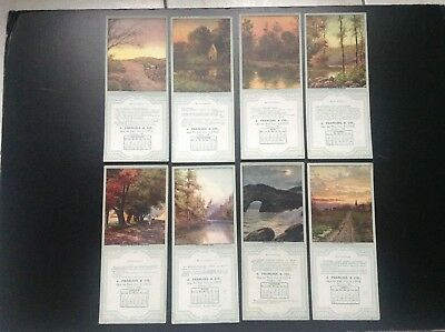 Lot de 8 buvards The Osborne Company Blotter