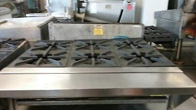 Range, 6 burner Jade counter top