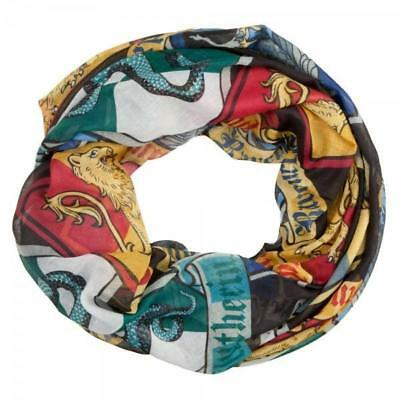 Harry Potter Crests Infinity Viscose Scarf