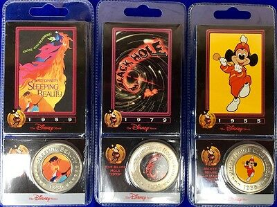 Disney Decades Coins 3 Different Coins With Cards From Disney Store