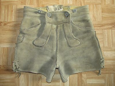 ALTE HIRSCHLEDER HOSE/HOT PANTS Gr.36/38 SUPER WEICHES,DICKES HIRSCHLEDER,TOP!!!