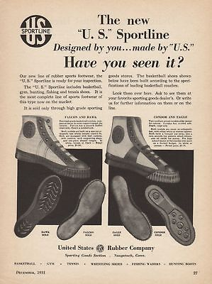 Vintage 1930s-1990s BASKETBALL SHOES Print Ads (Priced Per Ad) Group 1
