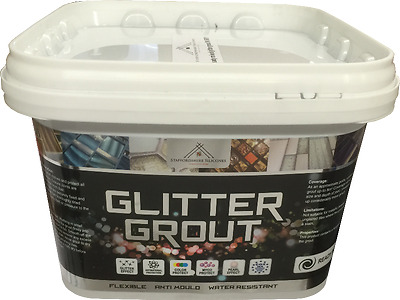 Glitter Grout Ready Mixed White . wall tiles mosaic & floor tiles 1.5 & 5KG