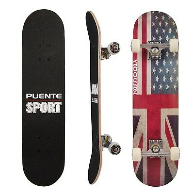 PUENTE PRO CRUISER Complete Skateboard 31 Inch (American Flag) NEW