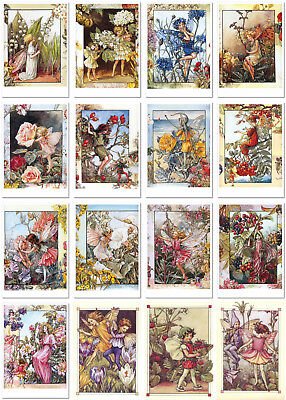 SET of 16 pcs CICELY MARY BARKER FLOWER FAIRY Little girl boy Modern Postcards