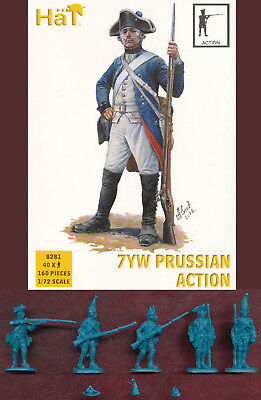 "1:72 Figuren 8281 7Yw Prussian Infantry ""action"" - Hät"