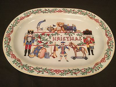 "15 3/4"" Large Platter Block Spal Whimsy Christmas"