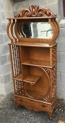 Victorian Oak Stick And Ball Shelf