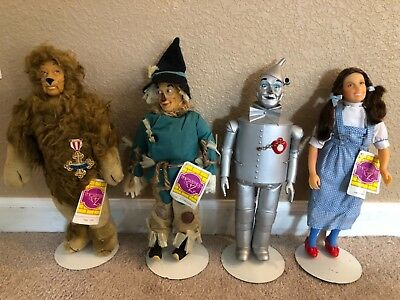 Wizard of Oz Collector Dolls Set of 4 by Presents Hamilton Gifts