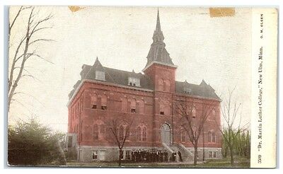 Early 1900s Dr. Martin Luther College, New Ulm, MN, Students, Old Main Postcard
