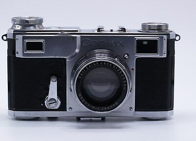 CONTAX II RANGEFINDER CAMERA WITH ZEISS SONNAR 5cm F/2 LENS FOR PARTS/REPAIR
