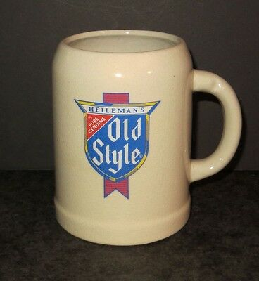 Vintage OLD STYLE Stein, Ceramic Pottery, Old Style Beer logo, Real Cubs Fans...