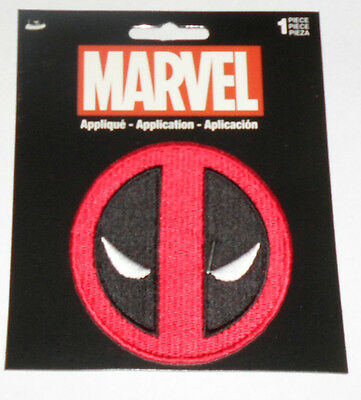 """DEADPOOL Logo Embroidered iron-on Patch 3"""" round New"""