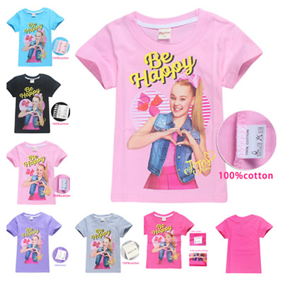 Newest JoJo Siwa Kids Girls T- Shirts Casual Tops Clothes Gift 100% cotton