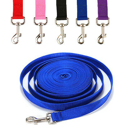 Nylon Dog Tracking Leash Recall Training Obedience Rope Long Line Leads 6 Sizes