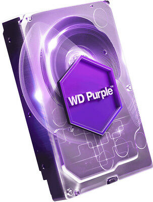 "WD WD80PURZ 8TB Purple 3.5"" SATA3 Surveillance Hard Drive - Replacement for WD80"