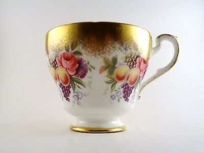 Paragon England Tea Cup Roses and Fruits with Heavy Gold Trim Detail D157 H
