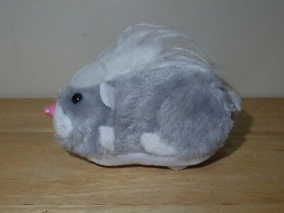 2008 Cepia Zhu Zhu Pets Hamster Rockstars Kingston 9.27 Gray White Works No Tag